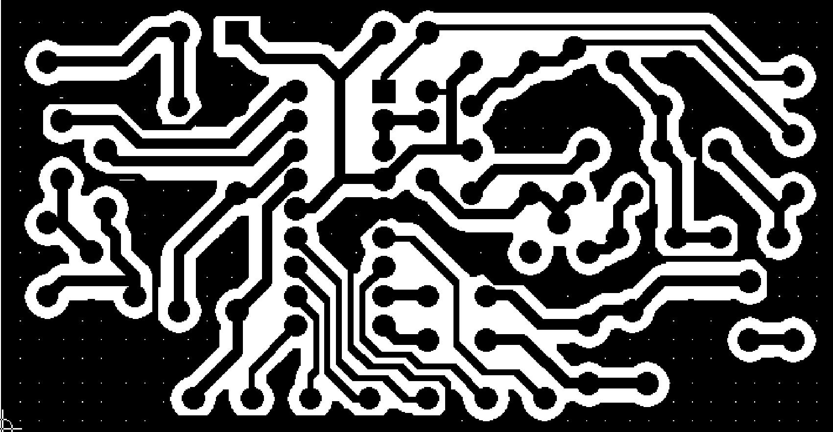 Схема печатной платы усилителя 5